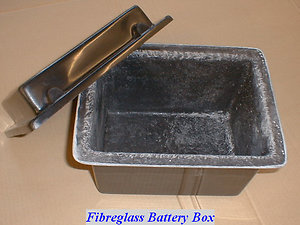 Universal Fibreglass, Bonnet Scoops. Etc.. battery box
