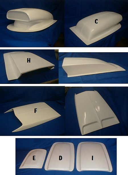 Universal Fibreglass, Bonnet Scoops. Etc.. bonnet scoops 2