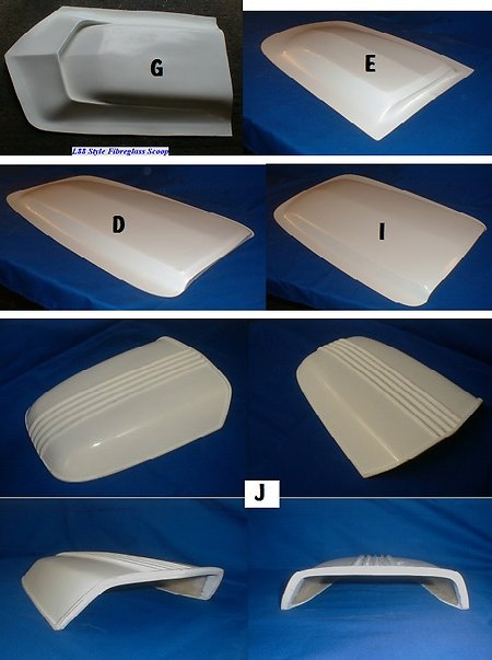 Universal Fibreglass, Bonnet Scoops. Etc.. bonnet scoops 1